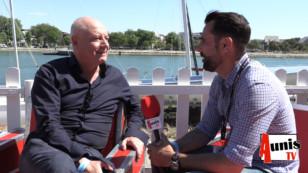 """Francofolies 2019 de La Rochelle. Avec Patrick SIMONIN, présentateur de l'émission """"L'invité"""" sur TV5MONDE"""