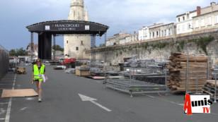Le chantier des Francofolies 2019 de La Rochelle à la veille du coup d'envoi