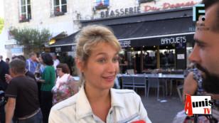 Festival de la Fiction TV de La Rochelle 2019. Avec Caroline ANGLADE, actrice.