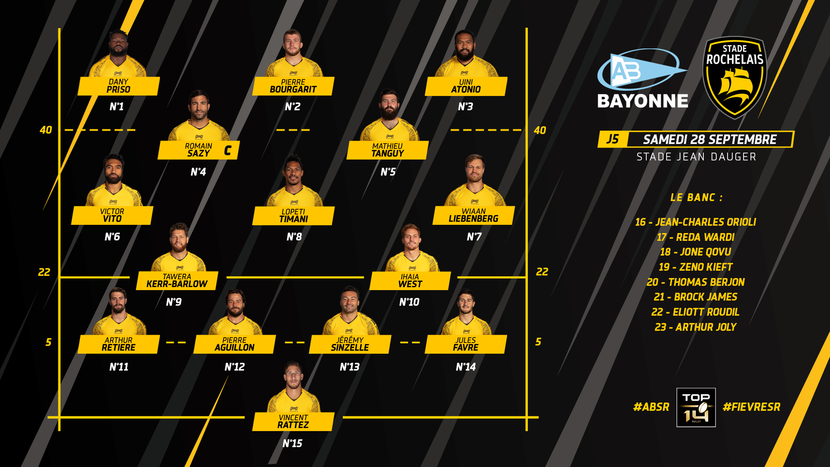Compo Stade Rochelais - Bayonne La Rochelle Rugby Top14