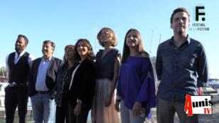 Festival de la Fiction TV de La Rochelle 2019. Avec les membres du Jury.