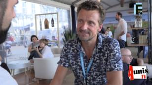 Festival de la Fiction TV de La Rochelle 2019. Avec Stéphane ROUX, acteur, comédien et chanteur.