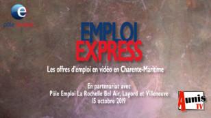 Emploi Express du 4 novembre 2019. Les offres d'emploi en vidéo en Charente-Maritime