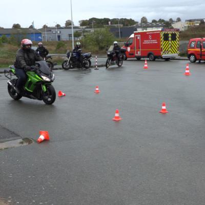 Securité routière Surgères Trajectoire de sécurité police gendarmerie
