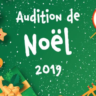 Audition de Noël 2019 Conservatoire de musique Aunis Sud