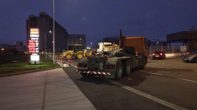 Blocage dépôt carburant La Rochelle action GNR
