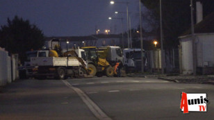 A La Rochelle les chefs d'entreprise du BTP bloquent de nouveau les dépôts de carburant