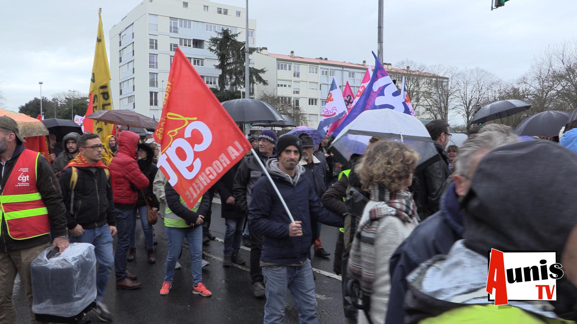 Manifestation réforme retraites La Rochelle mardi 17 décembre 2019