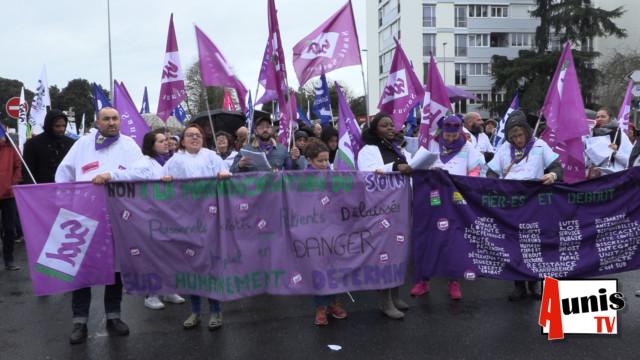 Manifestation réforme retraites La Rochelle 17 décembre 2019