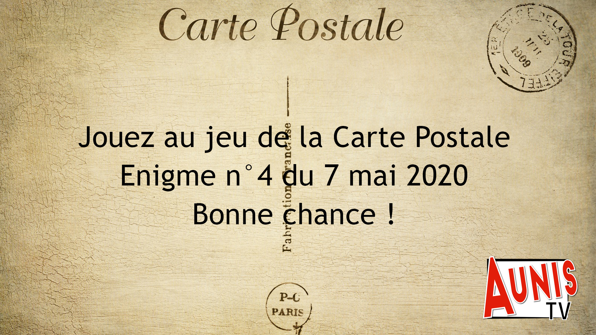 Jeu de la Carte Postale n°4
