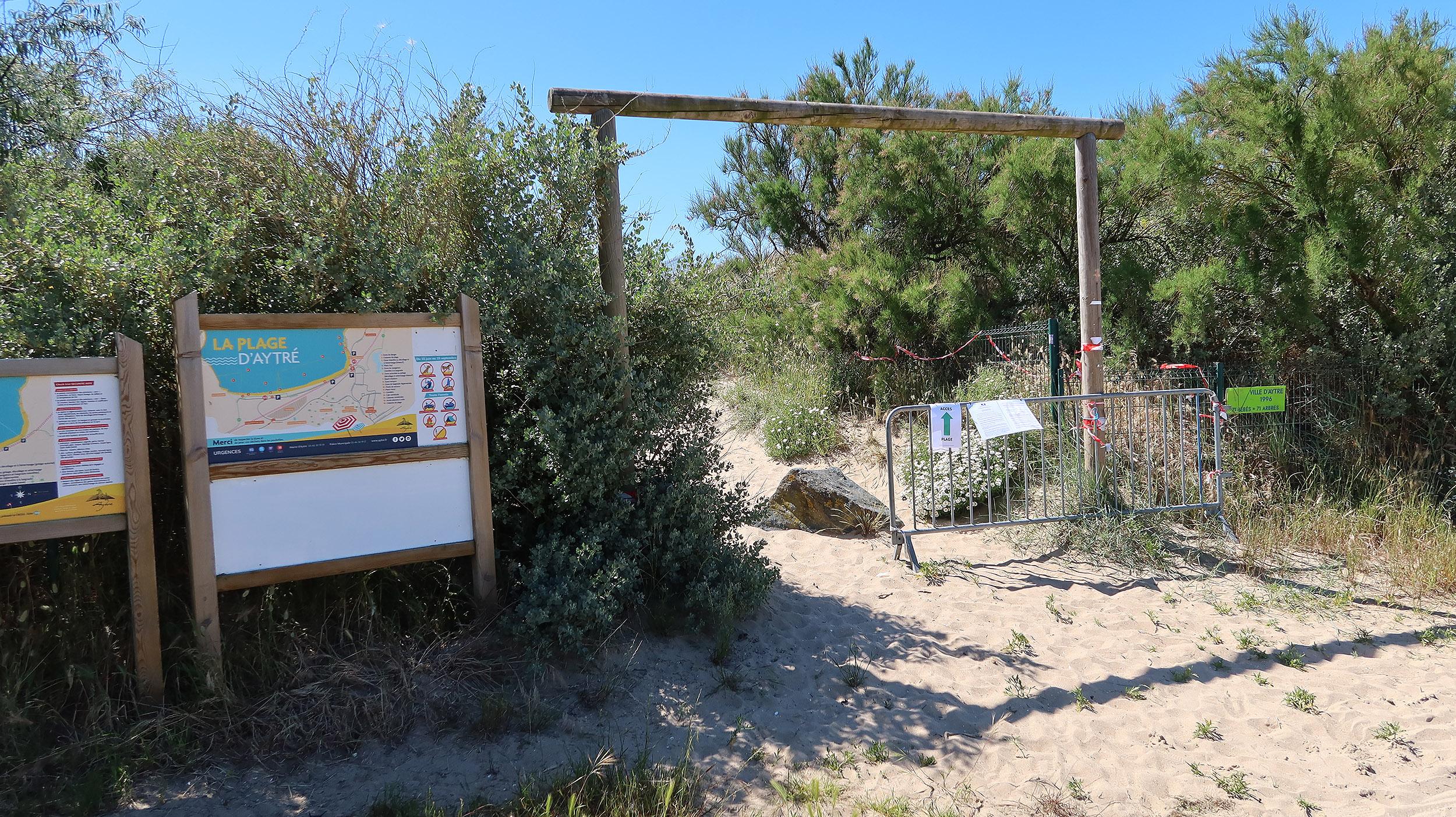 L'accès est aussi réglementé à la plage d'Aytré 2500 ©Ludovic Sarrazin