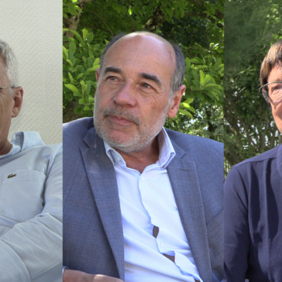 Jean Marie Bodin, Thierry Belhadj et Mauricette Maingot, les têtes de listes à Marans. © Ludovic Sarrazin