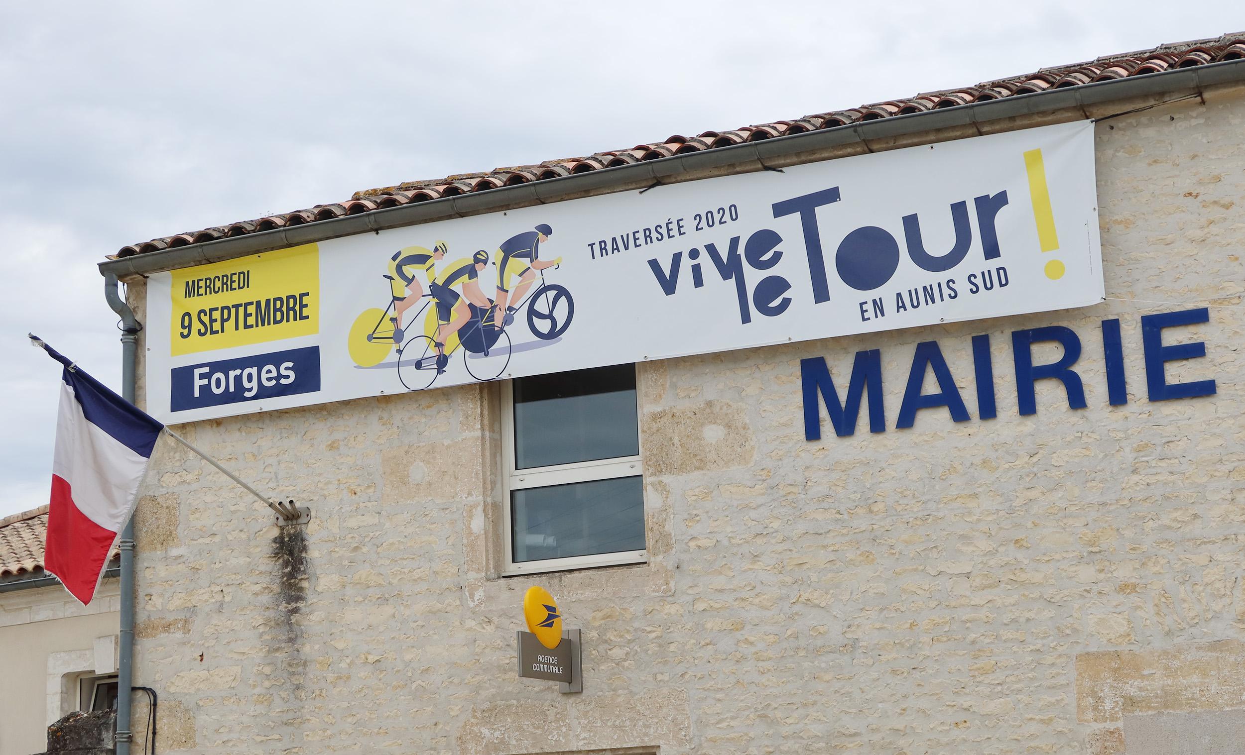 Tour de France en Charente-Maritime Forges. ©Ludovic Sarrazin