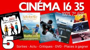 """""""CINÉMA 16 35"""", l'émission 100% cinéma du mardi 15 septembre 2020."""