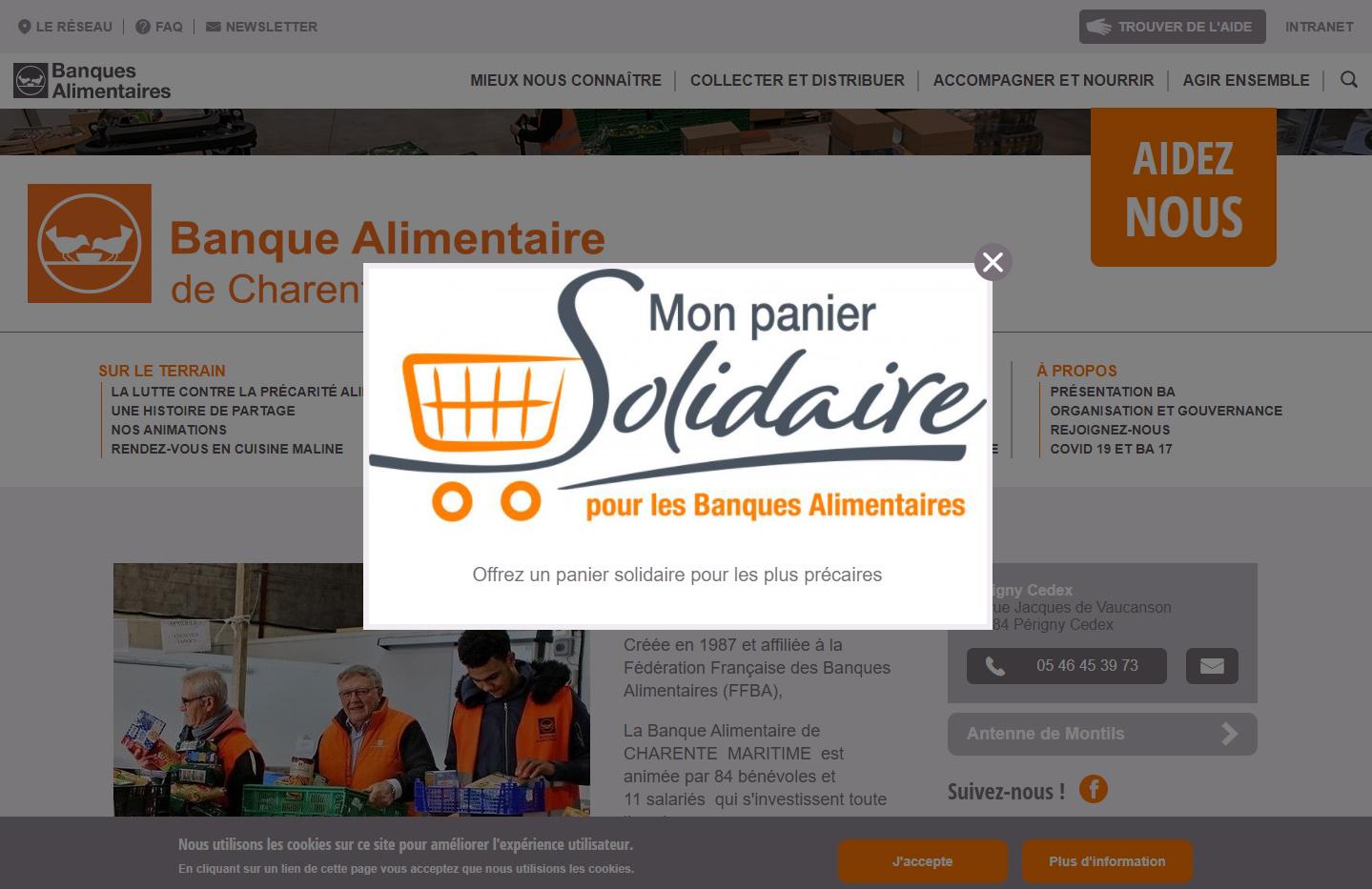 Mon panier solidaire La Banque alimentaire ©DR