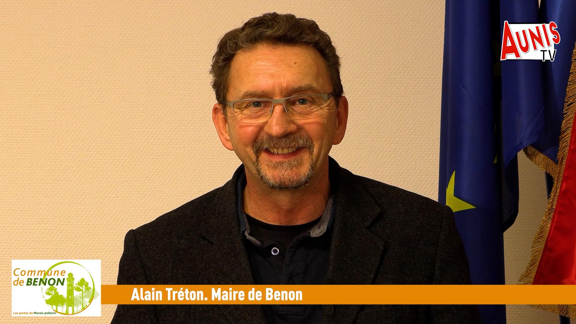 Alain Tréton Maire de Benon Voeux 2021