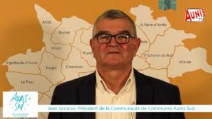 Les Vœux 2021 de Jean Gorioux, président de la Communauté de communes Aunis Sud
