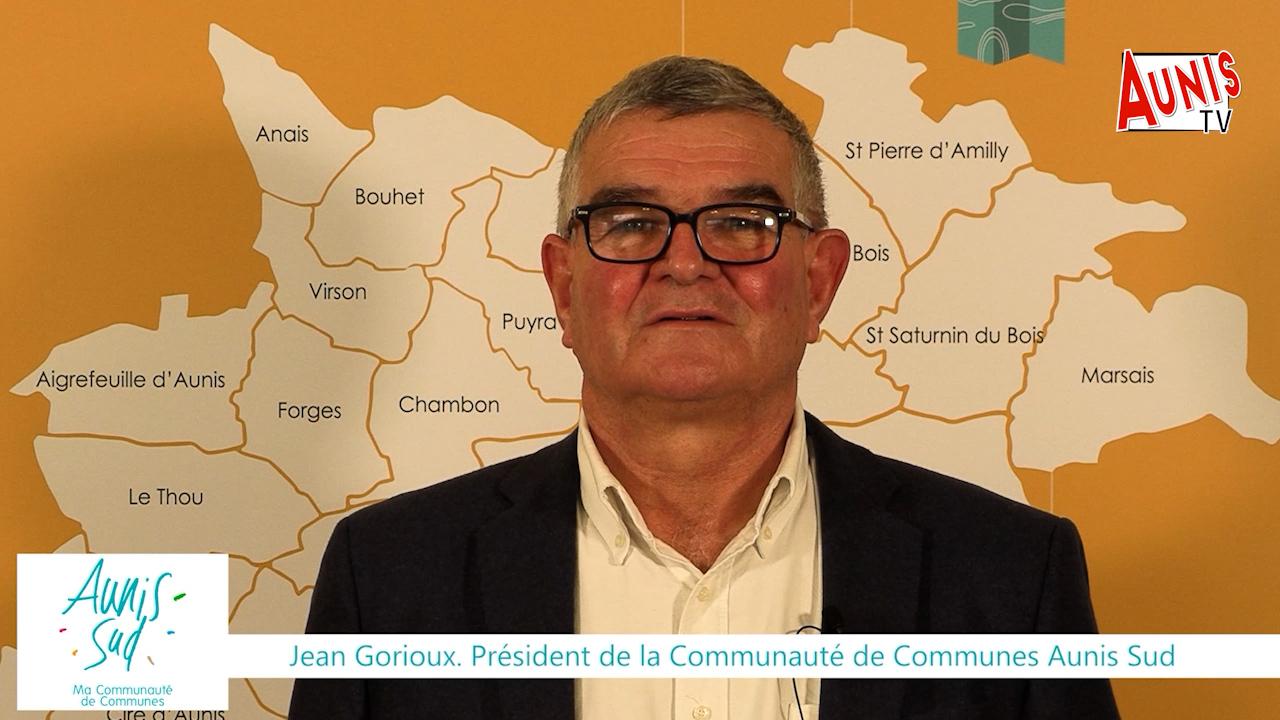 Jean Gorioux Vœux 2021 CDC Aunis Sud