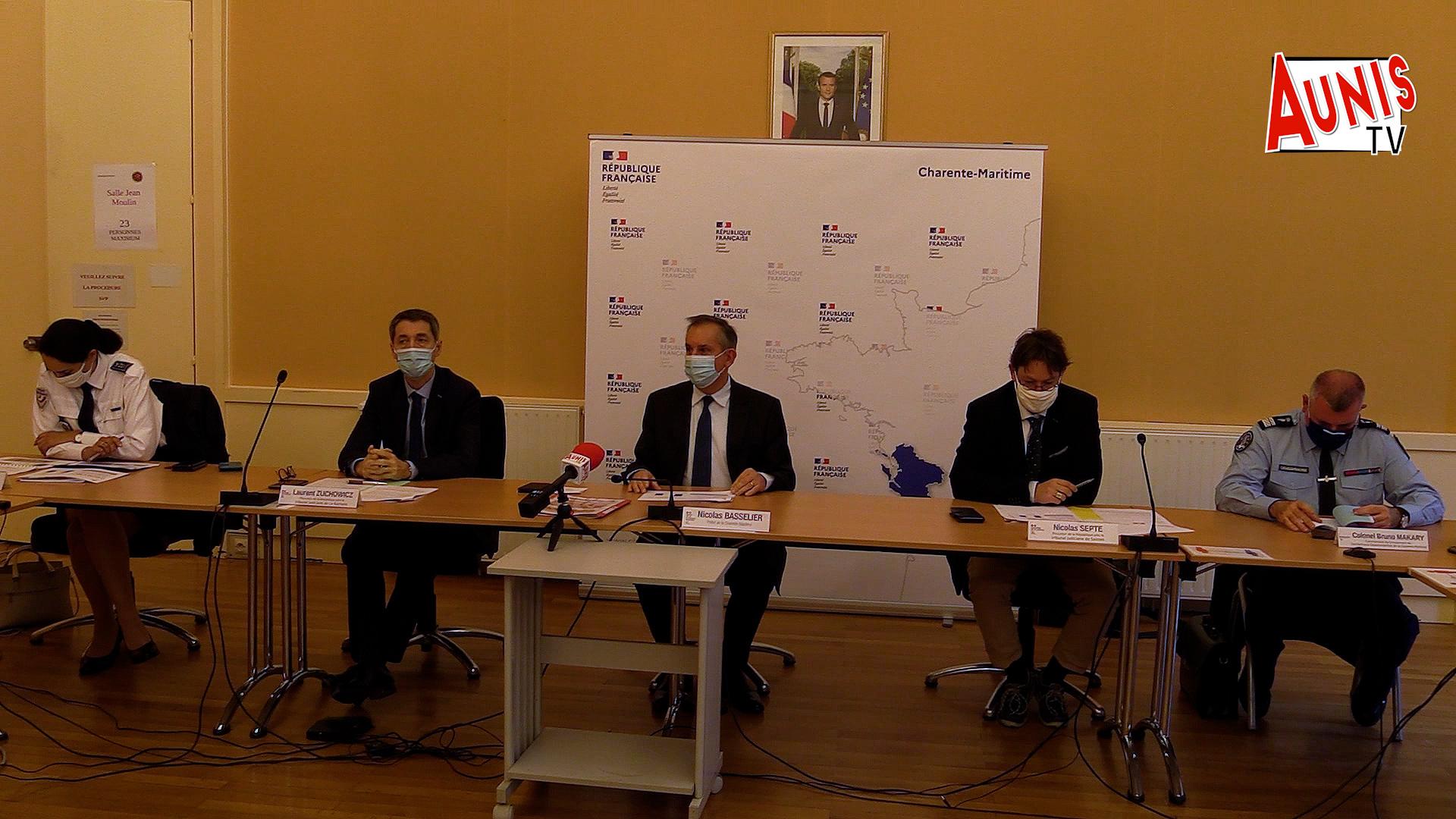 Conf presse délinquance sécurité routière Charente Maritime en 2020