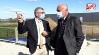 Jean Gorioux Alain rousset visite cyclad Surgères