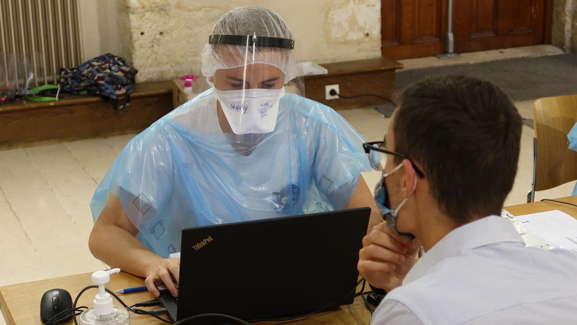 Test PCR Vaccination Covid 19 ©Ludovic Sarrazin