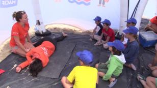 La Rochelle : la SNSM forme les mini-sauveteurs sur la plage des Minimes