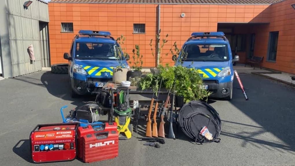 Gendarmerie armes couples Surgères menace. ©Gendarmerie de la Charente-Maritime